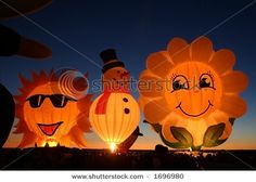 Special shapes balloons at glow event, Albuquerque International Balloon Fiesta