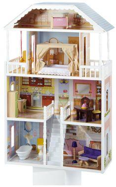 2. KidKraft Savannah Dollhouse with Furniture