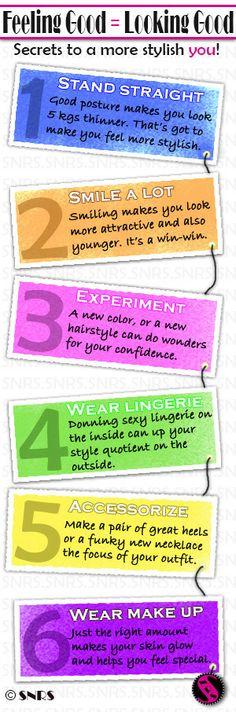 Tiny tips to be confident and stylish - via SNRS