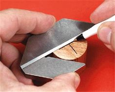 Use the Center Square to find and mark the exact center of round, square and octagonal parts up to 2-1/2 inches across