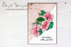 Stampin' Up! Farbenfroh durchs Jahr Blüten Marmor Von Herzen blended season Workshop, Party, Stampin Up, Card Ideas, Blog, Happy Birthday, Seasons, Stitch, Paper Mill