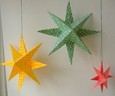 Content in a Cottage Blog has an easy tutorial for making paper stars! FuN!