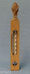 Haushalts-Thermometer-Milch-Butter-Holz-antik-Sueddeutsche-Zentrifugenwerke-E2389