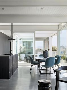 Headland House — Madeleine Blanchfield Architects Australian Architecture, Interior Architecture, Interior Design, Timber Panelling, Attic House, My Ideal Home, Huge Windows, House On A Hill, Concrete Floors