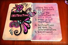 Wreck this Journal instructions page #ideas