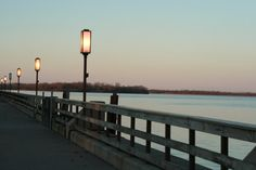 My current hometown. Beautiful Wyandotte Michigan.  The Detroit River from the pier @ Bishop Park