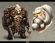 "cyberclays:  Einar - by Johannes Helgeson ""Viking character design for the CharacterDesignChallenge FEB 2016″ More selected art by Johannes Helgeson on my tumblr [here]"