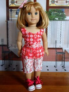Jinjia Mixed Goods: American Girl Dolls with an Asian Flair: Matching Valentine's Outfits for Nellie and Samantha