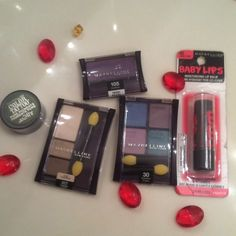 Beauty eyeshadow all new makeup bundle Maybeline makeup new all packed eye shadows ! Different colors and styles! Bundle & save 20% YES even on beauty! Firm offers i dont accept on beauty ! All new items FREE baby lips rare alone i sell $8-$12 for 1 free gift Sephora Makeup Eyeshadow