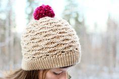 Descarga instantánea - Crochet Patrón - Tessa sombrero (tamaños bebé-adulto)