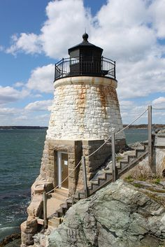 Castle Hill Lighthouse Newport, Rhode Island - I loved this little lighthouse. You can climb all round it. (And we did!)