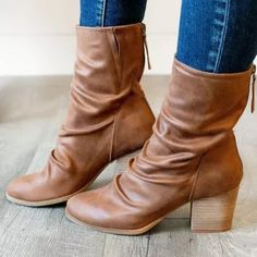 Platform Shoes Heels, Boot Brands, Buckle Boots, Artificial Leather, Mid Calf Boots, Leather Heels, Block Heels, Riding Boots, Calves