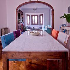 Mesa con tapa de mármol de Carrara - Comprar en Muebla