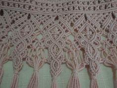 Puntilla tejida en Macramé  Diseños exclusivos de Raquel Ramirez