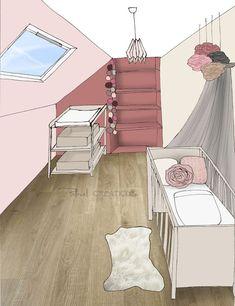 Pellmell Créations: Liste shopping et croquis : une chambre bébé dans les vieux…