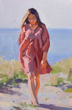 Lena Rivo's Painting Blog: Girl in a Red Dress - new painting and a new DEMO!