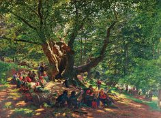 'Robin Hood and his Merry Men in Sherwood Forest' by Edmund George Warren, 1858. Corbis / Christie's