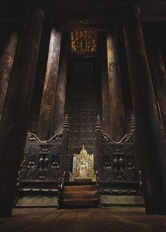 main prayer hall of bagaya kyaung, inwa, myanmar | buddhist temple