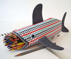 This Shark Pencil Case by Minne Bites Devours Writing Tools #pencilcases #backtoschool trendhunter.com
