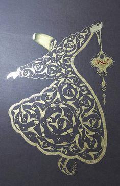 Altın yaldızlı Mevlevi ஐ :)♨️♔♛✤ɂтۃ؍ӑÑБՑ֘˜ǘȘɘИҘԘܘ࠘ŘƘǘʘИјؙYÙř Arabic Calligraphy Art, Arabic Art, Islamic Art Pattern, Pattern Art, Persian Motifs, Iranian Art, Turkish Art, Gold Work, China Painting