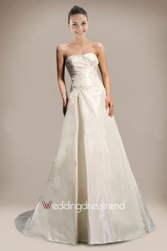 Cheap Charming A-line Strapless Beaded Wedding Dress - the Best Wedding Dresses Online Wholesaler and Retailer