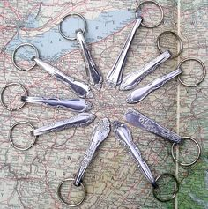 Upcycled Silverware Key Chains by Whimsical Wonders - in both Craft-O-Tron machines.