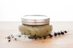 DIY Body Scrub - LAVENDER-GRAPESEED OIL SEA SALT SCRUB   This beautiful bodyscrub will rejuvenate and  moisturize your skin. Lavender is calming, healing and has antibacterial properties. Soothe your senses..and indulge your skin!