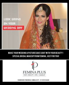 All brides aspire to look beautiful and radiant on their wedding day.  Get unique bridal makeup, skin & hair care services from your near salon @feminaplus Book your appointment now @ 0172 4622884 (Chd), 4025050 (PKL) & 2444244 (Ambala)  #feminaplus #bridalmakeup #hairstyling #skincare #bridalmakeupinchandigarh #makeupchandigarh #weddingmakeup #bridalmakeupinpanchkula #bridalmakeupinambala #bridalhairstyling #wedding #makeup #makeupartist #makeupaddict #bridalfashion #hairstyles