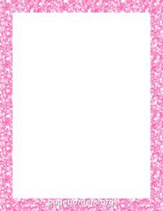 Printable pink and black polka dot border. Free GIF, JPG ...