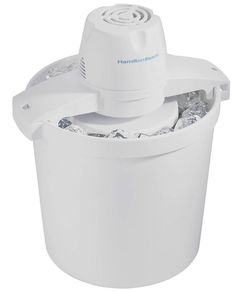 Features:  -Includes over 20 recipes.  -Fully automatic, no stirring.  -Easy lock lid.  -Capacity: 4 Quarts.  -Requires about 8-12 pounds of ice and 3 cups of rock salt to make 4 quarts of ice cream.