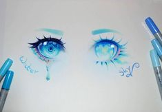 Deep like water or empty like the sky? Which one do you prefer? :) #deep #water #empty #sky #eyes #eye #eyeshadow #makeup #cute #kawaii… Beautiful Drawings, Pretty Drawings, Amazing Drawings, Cool Drawings, Amazing Art, Anime Eyes Drawing, Realistic Eye Drawing, Wolf Eye Drawing, Art Sketches
