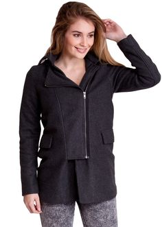 Side-Zip Hooded Winter Jacket J30531CH, clothing, clothes, womens clothing, jeans, tops, womens dress