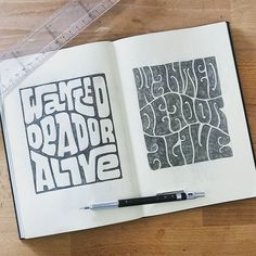 I walk these streets, a loaded six string on my back. I play for keeps, 'cause I might not make it back. Maybe @fran6 rides a steel horse as well as doing awesome lettering.  --  use #typegang to be featured  --  #notebook #pencil #psychedelic #typography #journal #sketch #trippy #lettering #pen #handlettering #sketchbook #draw #psychedelicart #pencildrawing #type #stationery #goodtype #acid #thedailytype #calligraphy #paper #typespire #bulletjournal #hippie #ligaturecollective #sketching