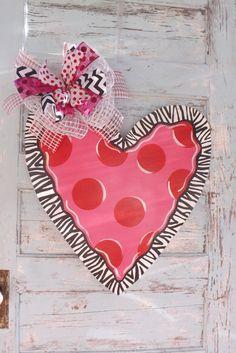 Valentine's Day Door hanger Heart door Hanger by BluePickleDesigns, $40.00