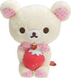 San-X Rilakkuma Strawberry Party Korilakkuma Stuffed Plush Doll from Japan #SanX