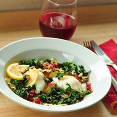 Date Night Dinner #Recipe: Open-Faced Ravioli with Egg and Wilted Greens