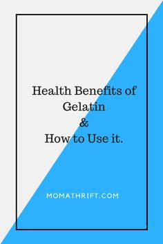 Benefits of Gelatin. And why you need it.