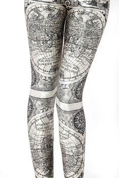black milk ancient maps leggings