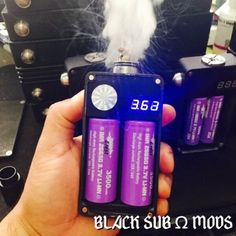 Black-Unregulated-Dual-26650-Parallel-MOSFET-Box-Mod-Cloud-Chaser-Sub-ohms