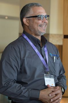 Curt Cadet, chair of IOSH's Caribbean Branch, talks at an international health and safety standard meeting in Trinidad in January 2015. He spoke of his and his branch's pride at hosting such an important, worldwide event.