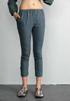 skinnie  SKINNY PANT 100% LINEN  MADE IN BROOKLYN