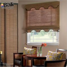 Just found the perfect window treatments!! - Blinds.com. – Bali Natural Woven Wood Shades #homedecor #blinds #bamboo-shades