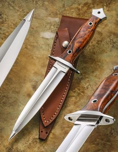 Bastion Dagger by T. Steingass – Daggers 12 OAL 7 Blade length Convex tip Tapered tang 416 SS furniture Pinned/soldered guard Handle/guard lash points oz leather sheath To order contact robertsonscustomc… Presentation Grade (above) Swords And Daggers, Knives And Swords, Armas Ninja, Dagger Knife, Cool Knives, Handmade Knives, Cold Steel, Fixed Blade Knife, Tactical Knives