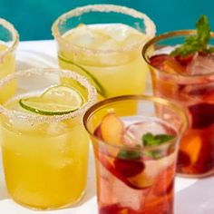 Yellow Watermelon Margaritas