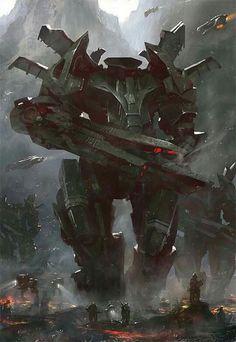 Sci-Fi Art: Mecha - Digital, Sci-fiCoolvibe – Digital Art Sci-Fi Art by Grosnez Illustrateur,: Arte Sci Fi, Sci Fi Art, Robot Concept Art, Armor Concept, Character Concept, Character Art, Character Design, Art Science Fiction, Space Opera