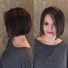 Idée Coiffure   coupe carré court plongeant, femme aux cheveux chatain,  idée de coiffure struc... - Madame.tn - Magazine féminin Numéro 1   mode,  beauté, ... baddffc0519