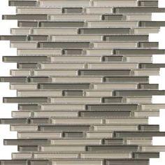 Emser Tile-Lucente Glass Blends Linear Mosaic Pellestrina Blend 13X13