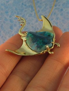 Manta Ray with Australian Crystal Opal by martymagic on Etsy, $6500.00