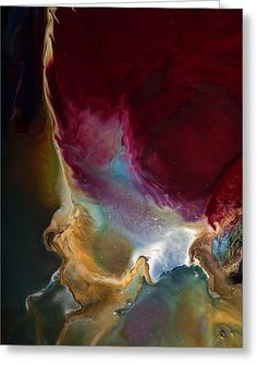 Modern Colorful Earth Tones Abstract Art-achieve The Goal By Kredart Greeting Card by Serg Wiaderny