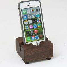 iPhone Stand / Docking Station - for Thin, Thick or No Case on Etsy, $17.95